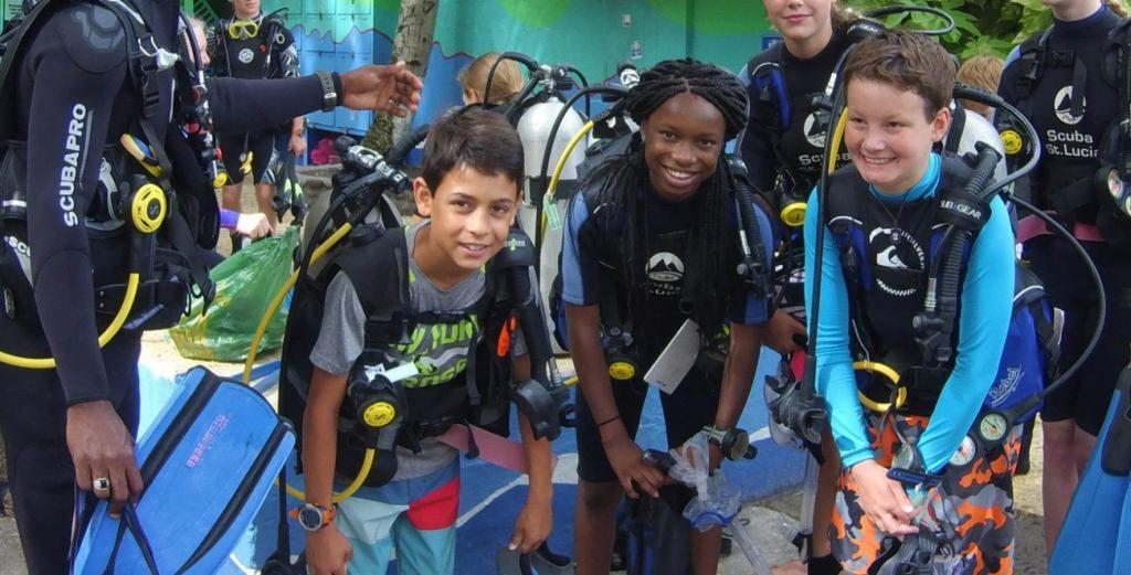 St. Lucia, Diving, family vacations, equalize