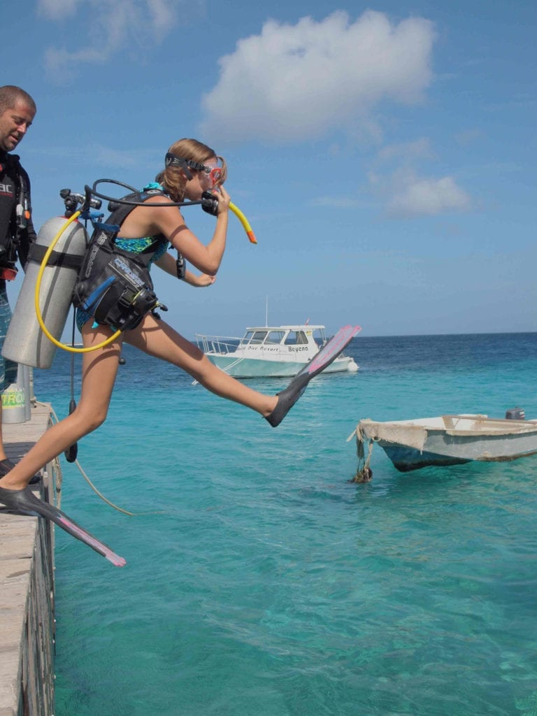 Bonaire, Kids Sea camp Family Vacations, teen diver