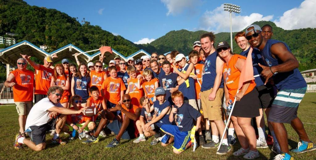 Kids Sea Camp, football, family vacations, Kids Sea Camp Turkey Bowl, St. Lucia