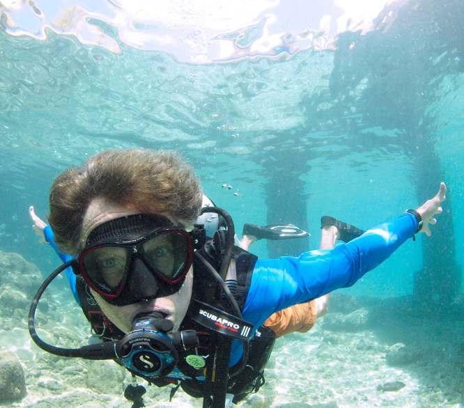 fog, Bonaire, mask, diving, Kids Sea Camp