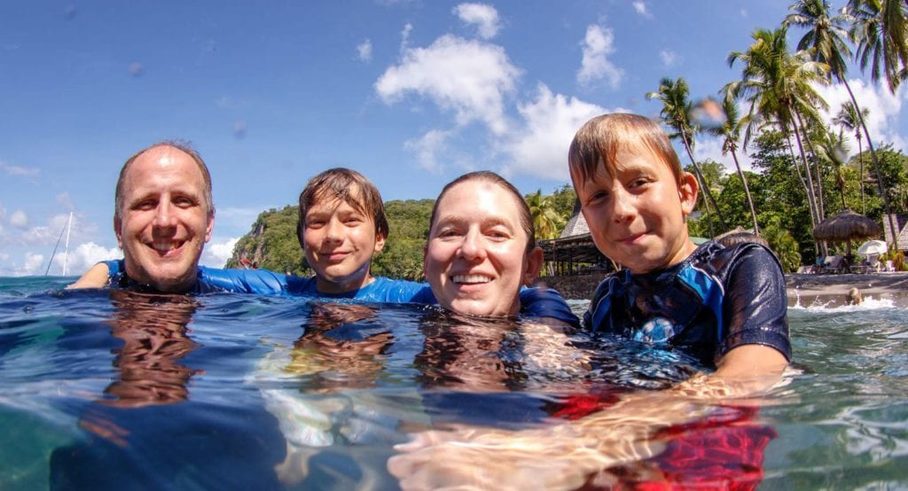 Family DIve vacations, group travel, family and diving, family vacations