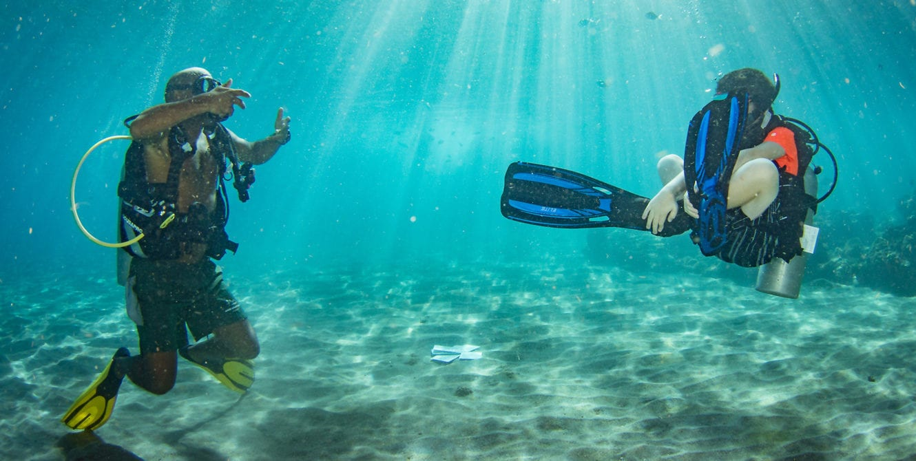 Dive Training, Kids and diving, Family vacations