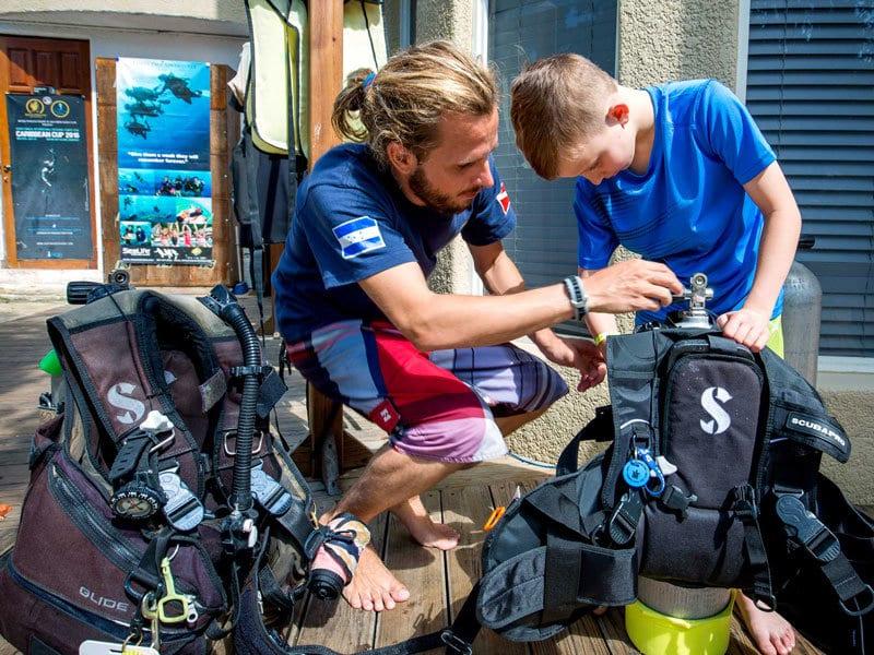 Junior Water, Open Water, Scuba training, Kids Sea Camp